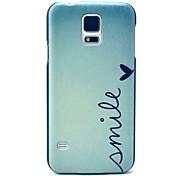 Lächeln Herzmuster Hard Case für das Samsung Galaxy i9600 s5