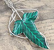 Men's Green Leaf Pendant Necklace