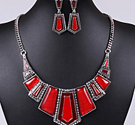Hot Sale Imitation Stone Shape Silicone With Oildrip  Alloy (Necklaces&Earrings)