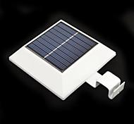 4-LED Solar Powered Fence Gutter Light Yard Garden Wall Lobby Pathway Lamp with PIR Motion Sensor