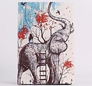 Elefanten-Muster PU Ledertasche mit Ständer für iPad mini 3, iPad mini 2, iPad mini