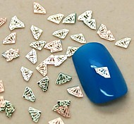 200PCS Diamond Shape Slice Metal Nail Art Decoration