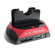 yuanbotong 2.5 / 3.5 pollici, docking station tutto in 1 hdd con lettore di carte
