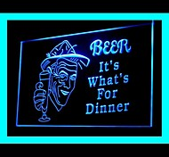 Beer Dinner Bar Green Blue Red White Orange Purple Yellow Advertising LED Light Sign