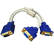 VGA-Screen VGA Gold-Plated Copper Wire a Mother of Two Computers and LCD TV Data Video Cable Free Shipping