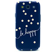 Beautiful Daisy Be Happy Pattern Hard Case Cover for Samsung Galaxy S3 I9300