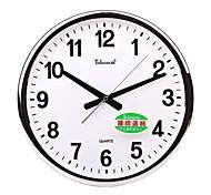 "Telesonic™ 14""H Brief Circular Shape Metallic Super Mute Wall Clock"