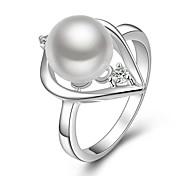 Fashion Exquisite Heart-Shaped Imitation Pearl Women Rings (1 Pcs)