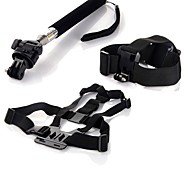 Accessories For GoPro Chest Harness / Front Mounting / Monopod / Tripod / Straps / Hand Grips/Finger Grooves / Accessory KitFor-Action