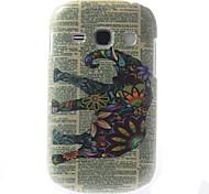 conçu pc étui en relief de motif coloré d'éléphant pour samsung galaxy 6810