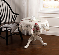 "English Rose Embroidery Cutwork  Square Table cloth 85X85CM SQ(33X33"")"