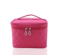 Tragbare Nylon Checkered Makeup-Tasche Kosmetik Tasche / Tote