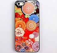 Colorful Hard Case Flower Design aluminio para el iPhone 4/4S