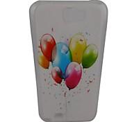 Bela Padrão Balão PC Back Case para Samsung Note 2 N7100