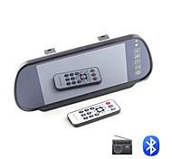 """7 """"pulgadas TFT-LCD espejo retrovisor del coche monitor con Bluetooth MP5 reproductor de vídeo USB SD de la ayuda"""