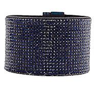 Multi-row Dark Blue Rhinestone Magnet Bracelet