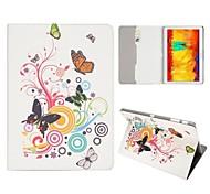 Motif de papillon Deluxe pliable carte Folio Slots stand Auto / Veille UP Housse en cuir pour Samsung Galaxy Note 10.1 2014 Édition P600