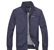 Мужская Мода Досуг Pure Color воротник куртки