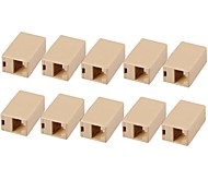 Professional RJ45 Network Cable Extension Coupler (10 PCS)