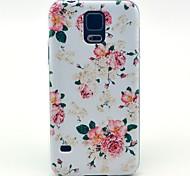 Für Samsung Galaxy Hülle Muster Hülle Rückseitenabdeckung Hülle Blume PC Samsung S5