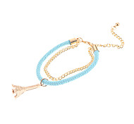 Fashion Multicolor Eiffel Tower Shape Charm Bracelets(1 Pc)