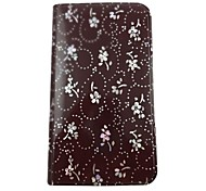For Samsung Galaxy Case with Stand / Flip / Pattern Case Full Body Case Flower PU Leather Samsung Grand