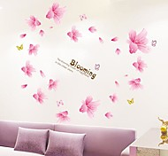 Lily Shaped Beautiful Romantic Plastic Wall Stickers(Pink Color x1pcs)