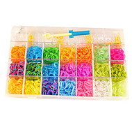 kit per arcobaleno colorato telaio (2100pcs elastico, 2 uncinetti, due borse di s ganci)