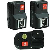 WanSen Livraison gratuite PT-04GY 4 canaux sans fil / Radio Déclencheur Flash / Transmetteur avec 2 récepteurs pour Canon Nikon