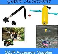 gopro Zubehör 2 in 1 schwimm Grip Handheld-Stick + Einbeinstativ mit Mount-Adapter für GOPRO HERO 1 2 3 3 + Kameras