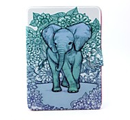Flowers Background Elephant Pattern 360 Degree Rotatable PU Leather Full Body Case with Stand for iPad Air