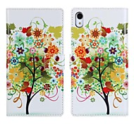 Beautiful Trees PU Leather Phone Case for Sony Xperia Z2