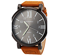 JUBAOLI® Men's Watch Military Roman Numeral Big Black Dial Casual Watch Cool Watch Unique Watch
