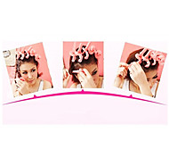 6Pcs Soft Sponge Key Shaped Hair Care Roller Set