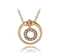 Women's Fashion Loop Shaped Gold Plated Necklace(Assorted Colors)