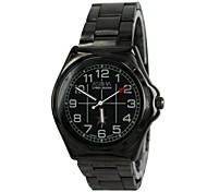 Men' Star Design Steel Analog Quartz Wrist Watch