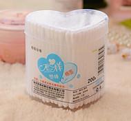 200Pcs Makeup Cotton Stick Plastic Stick