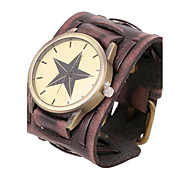 Men's Personalized Retro Leather Bracelet Watch Wrist Watch Cool Watch Unique Watch Fashion Watch
