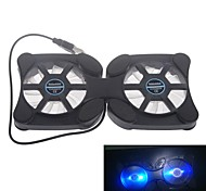 Super Mini Folding Notebook Fan Cooling Pad with LED Light