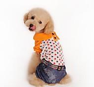 Mode für Haustiere schöne Liebes vier Füße Jeans für Haustiere Hunde (verschiedene Größen)
