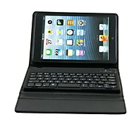 Premium Litchi Grain PU Leather Case for iPad mini 3 iPad mini 2 iPad mini w/ Bluetooth Keyboard (Black)
