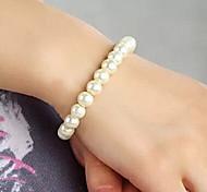 Shixin® Fashion Elastic White Pearl Strand Bracelet(1 Pc)