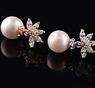 Z&X®  Fashion Top Grade Austria Zircon Pearl Earrings