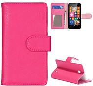 Lichee Texture Wallet Style Folio Stand Leather Case for Nokia Lumia 630 635 630 DS 630 Dual SIM(Assorted Colors)