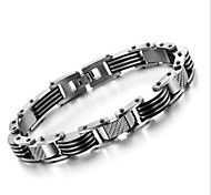 Z&X®  Men's Fashion Simple Cool Titanium Steel Bracelet