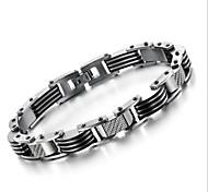 z&X® forma simples fresco titânio pulseira de aço dos homens