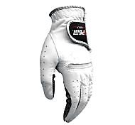 PGM Men's Left Hand Cabretta Leather White Breathable Full Finger Golf Gloves-1 Piece