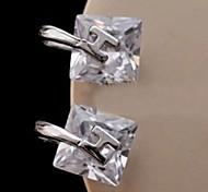 Z&X®  Fashion High Grade Temperament H Zircon Earrings