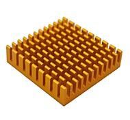 alto rendimiento del radiador disipador de aluminio - de oro (45 x 45 x 10 mm)