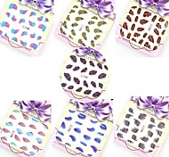 7PCS Colorful Water Transfer Feather DIY Nail Art Decals Stickers Tips